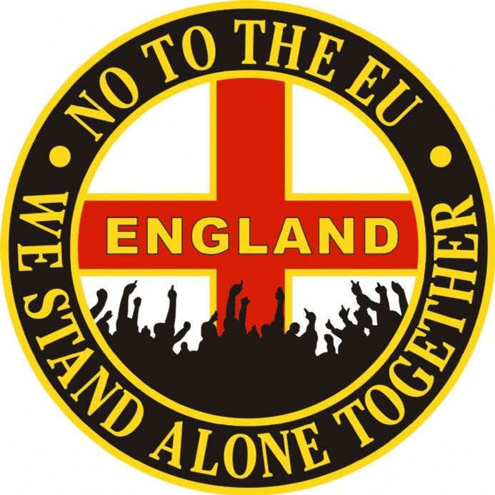 "England Car Window Sticker ""No To The EU"""